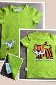 T-shirt med djungelmotiv, olika fram och bak.stl.104